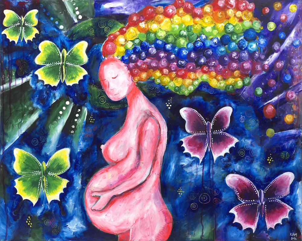 pregnancy art divine feminine goddess art